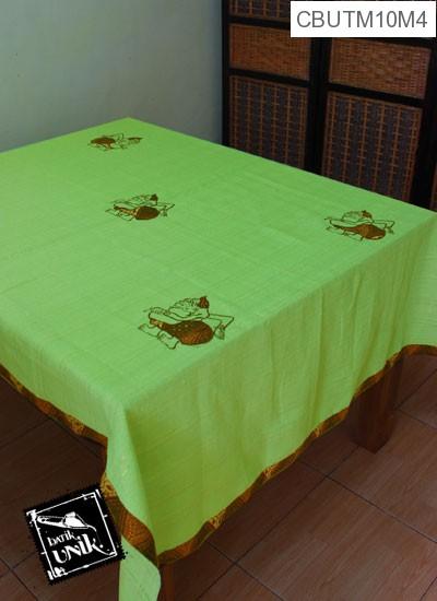 Taplak Meja Makan Motif Semar Batik Hijau