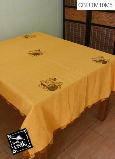 Taplak Meja Makan Motif Semar Batik Kuning