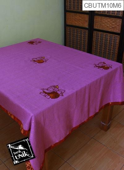 Taplak Meja Makan Motif Semar Batik Ungu