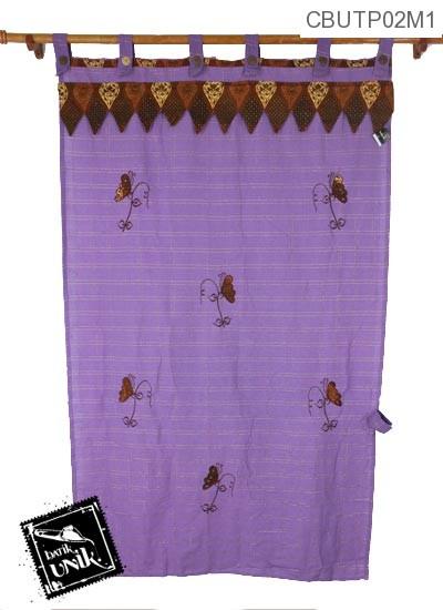 Tirai Pintu Pekalongan Motif Kupu Kupu Batik Terbaru