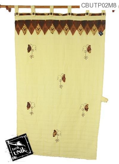 Tirai Pintu Pekalongan Motif Kupu Kupu Batik