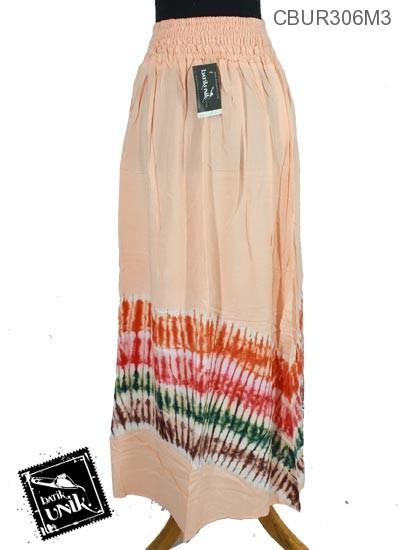 Rok Batik Motif Pelangi Tulang Polos
