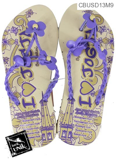 Sandal Batik Tali Kepang Kupu Tiga