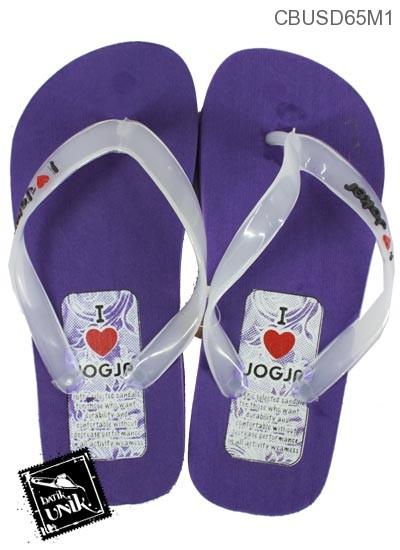 Sandal Polos Motif Love jogja
