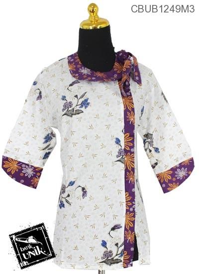 Blus Batik Tanggung Katun Motif Cakar Kembang