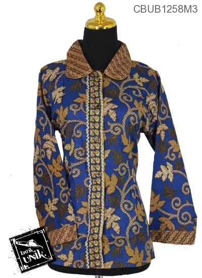Blus Batik Panjang Motif Godhong Cap Jagad