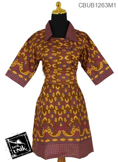Dress Batik Motif Songket X Tumpal