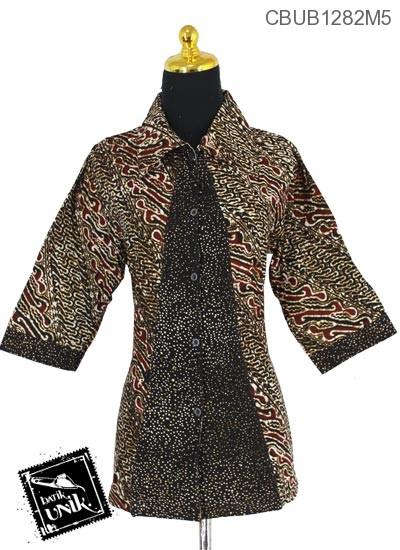 Baju Batik Blus Tanggung Motif Parang Udan