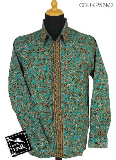 Kemeja Batik Panjang Pekalongan Motif Tetehan Tumpal