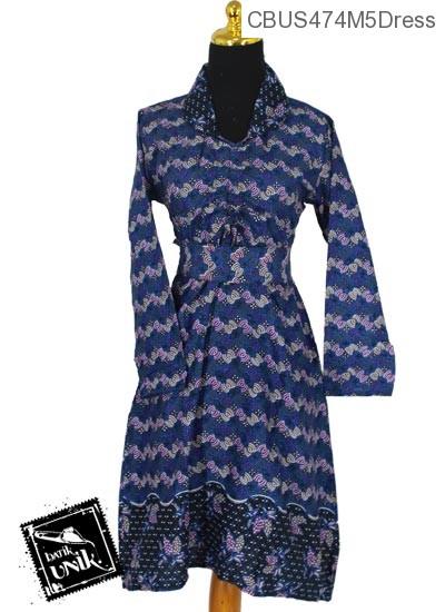 Baju Batik Sarimbit Dress Katun Motif wifi almond