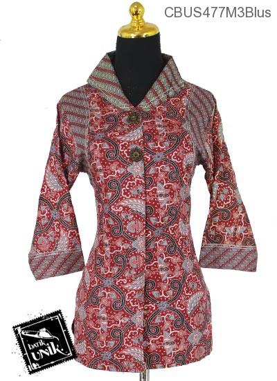 Baju Batik Sarimbit Blus Pekalongan Motif Kembang jangkar X