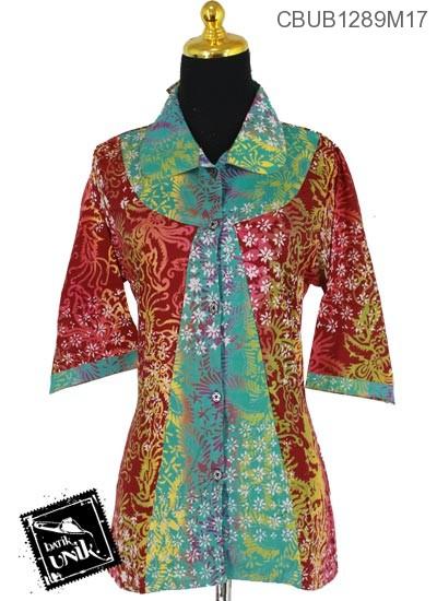 Baju Batik Blus Tanggung Pekalongan Motif Asoka Alas