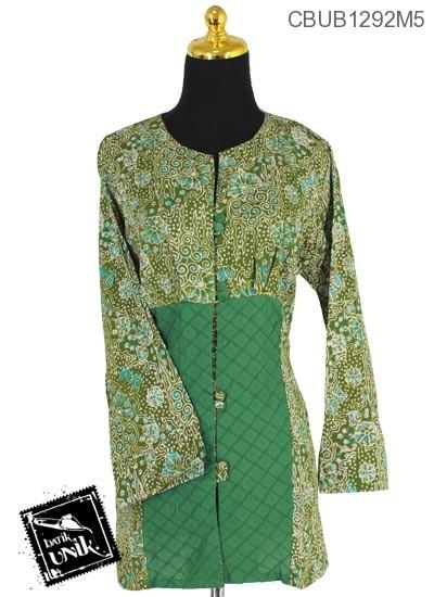 Baju Batik Blus Panjang Katun Motif Anyelir Rontok