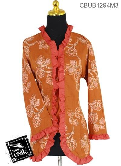 Blus Batik Panjang Pekalongan Motif Bunga Kana