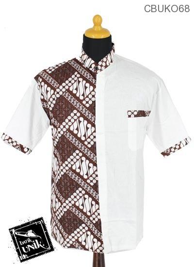 Kemeja Kerah Koko Motif Wadahan Batik