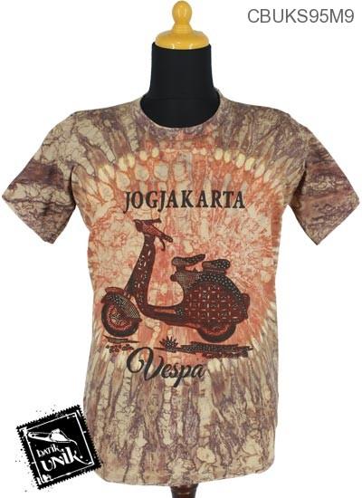 Kaos Batik Kaos Katun Motif Etnik Jogjakarta
