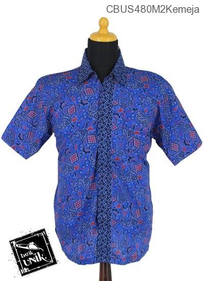 Baju Batik Sarimbit Blus Pekalongan Motif Bang Kol Tumpal