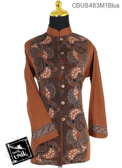 Baju Batik Sarimbit Blus Motif Bulu Babi Mekar