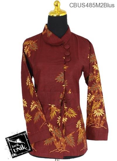 Baju Batik Sarimbit Blus Pekalongan Motif Bambu Hias