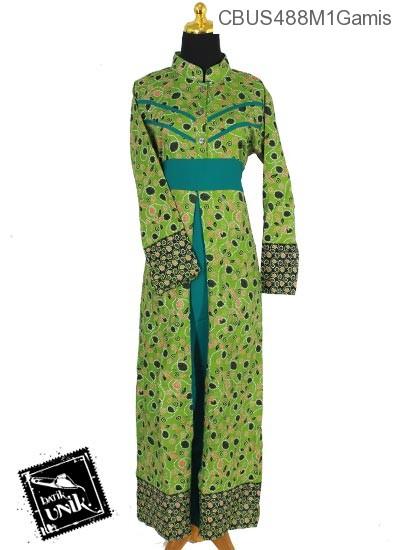 Baju Batik Sarimbit Gamis Pekalongan Motif Frambos Regolan