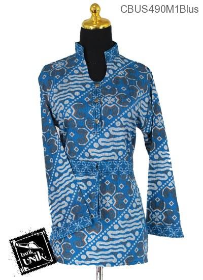Baju Batik Terbaru  Sarimbit Blus Katun Motif Parang Sriwedari