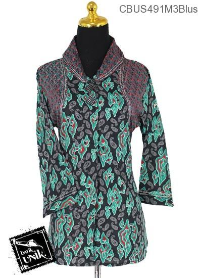 Baju Batik Sarimbit Blus Motif Megamendung Tumpal