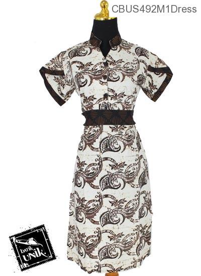 Baju Batik Terbaru  Sarimbit Dress Motif Semen Conil Tumpal