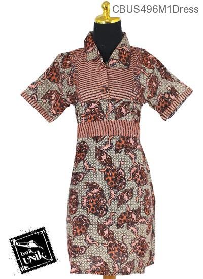 Baju Batik Terbaru  Sarimbit Dress Motif Kusnia Ceplok Alas