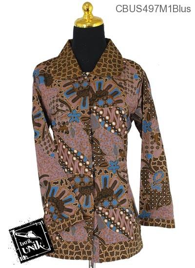 Baju Batik Sarimbit Blus Katun Motif Parang Jari