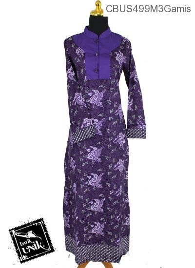 Baju Batik Sarimbit Gamis Pekalongan Motif Wadas Grombols Winih