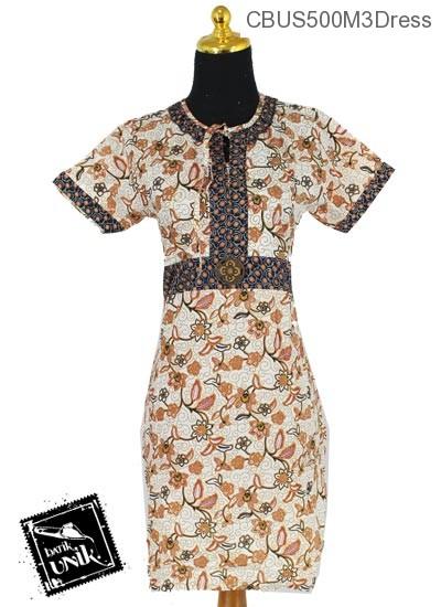 Baju Batik Sarimbit Dress Pekalongan Motif Kembang Girang Campur
