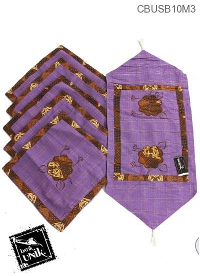 Sarung Bantal Kursi Motif Bunga Kupu Batik