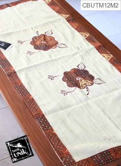 Taplak Meja Segi Enam Motif Kembang Kupu Batik