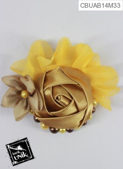 Bross Mawar Perca Melati Motif Bunga Bunga Segar
