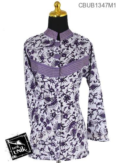 Blus Batik Terbaru  Panjang Pekalongan Motif Oyot Krambil