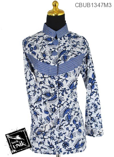 Blus Batik Panjang Pekalongan Motif Oyot Krambil