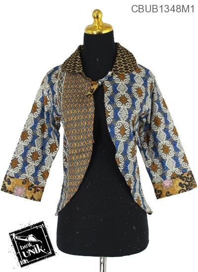 Baju Batik Terbaru  Bolero Motif Songket Baris