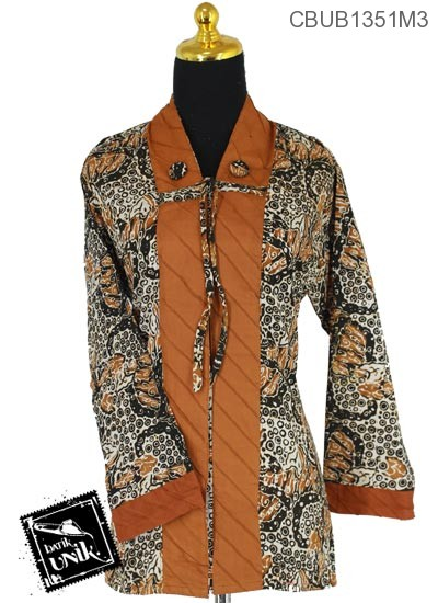Blus Batik Panjang Katun Motif Kembang Payung