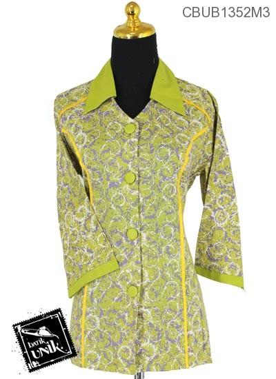 Baju Batik Blus Tanggung Motif Kembang Nom Warna