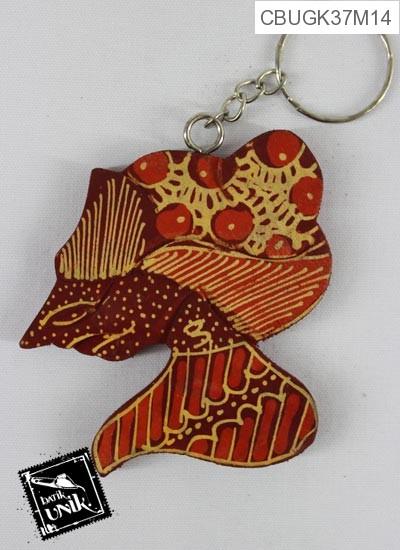 Gantungan Kunci Kayu Batik Rupo Wayang