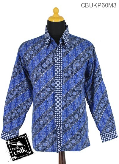 Baju Batik Kemeja Panjang Motif Ceplok Kawung