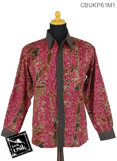 Baju Batik Kemeja Panjang Motif Peta Walik Tumpal