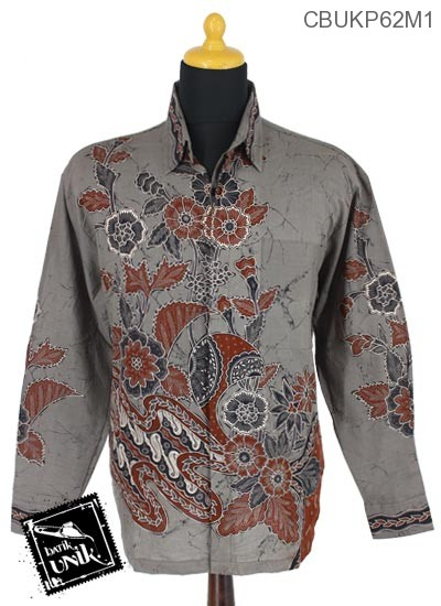 Baju Batik Terbaru  Kemeja Panjang Katun Motif Kembang Setaman