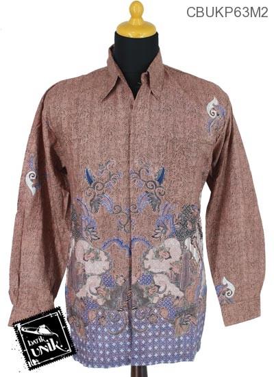 Baju Batik Kemeja Panjang Katun Motif Rengganis Tumpal
