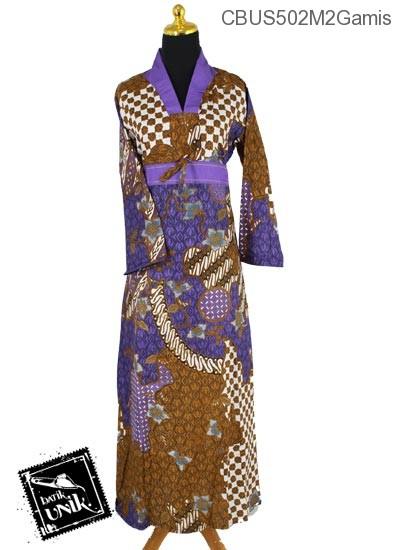 Baju Batik Sarimbit Gamis Pekalongan Motif SekarJagad Etnik