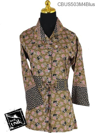 Baju Batik Sarimbit Blus Motif Bunga Air Mata Pengantin