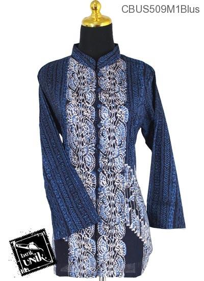 Baju Batik Terbaru  Sarimbit Blus Pekalongan Motif Riti Riti Kipas