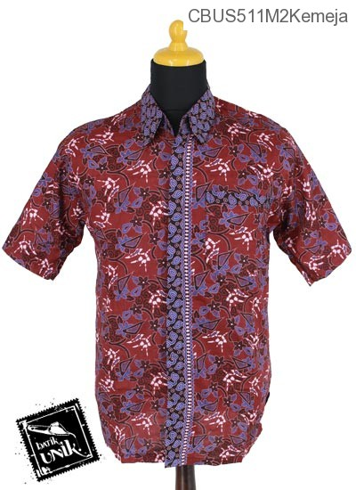 Baju Batik Sarimbit Blus Katun Motif Abstrak Dunia Tumpal