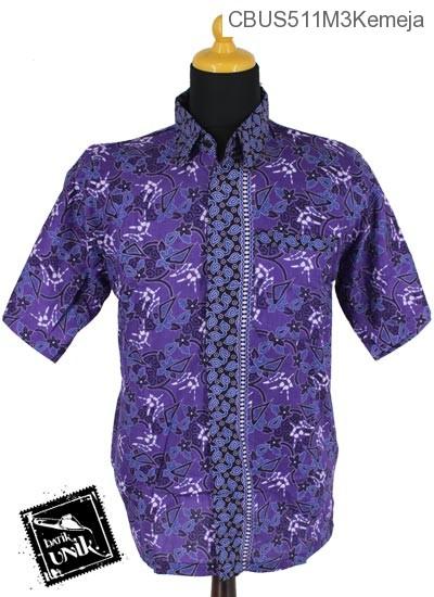 Baju Batik Sarimbit Kemeja Katun Motif Abstrak Dunia Tumpal