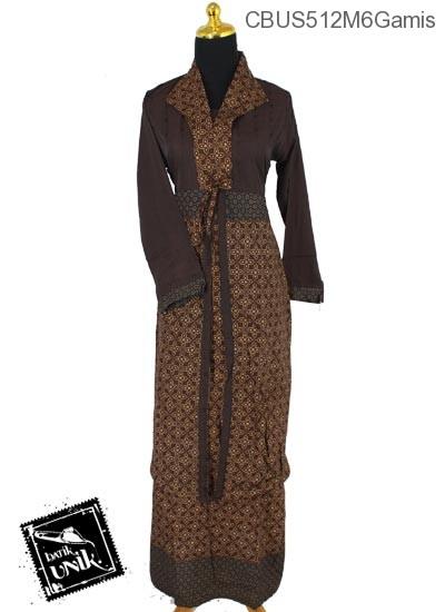 Sarimbit Dress Gamis Katun Motif Capocino Coklat